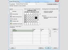 How to edit Project calendar in Microsoft Project – Do Duy