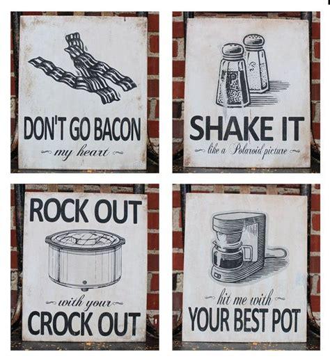 Kitchen Wood Signs Decor - kitchen pun wood sign set of 2 baking puns cooking