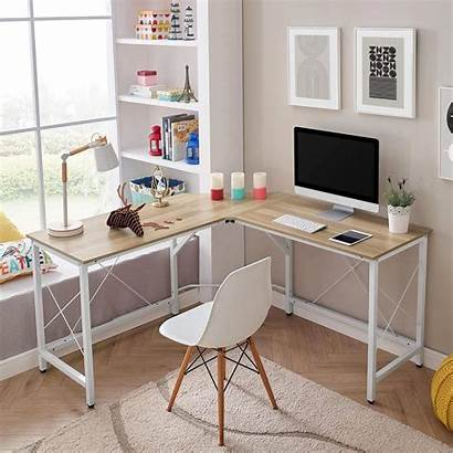Office Computer Desk Corner Writing Workstation Shaped