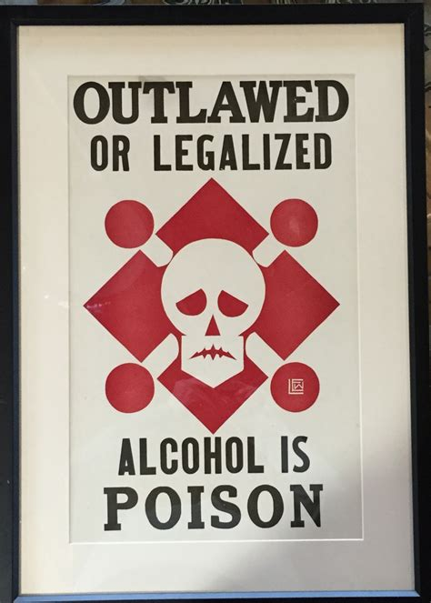 alcohol  poison  vintage silkscreen poster modernism
