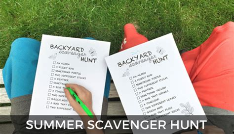 Summer Scavenger Hunt (in Your Backyard!)-is She Really?