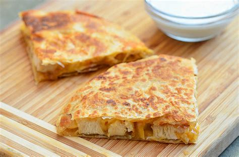 cuisine caramel chicken and caramelized quesadilla rings