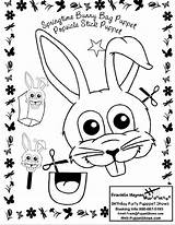 Puppet Bunny Coloring Paper Bag Sheets Puppets Rabbit Printables sketch template
