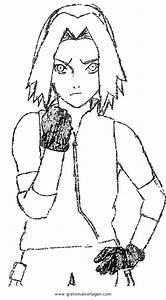 Naruto, Sakura, Gratis, Malvorlage, In, Comic