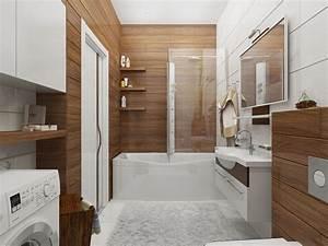 amenagement salle de bains et deco inspirations elegantes With salle de bain design avec bois flotté décoration murale