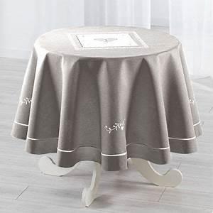 Nappe Blanche Ronde : nappe de table linge de table eminza ~ Teatrodelosmanantiales.com Idées de Décoration