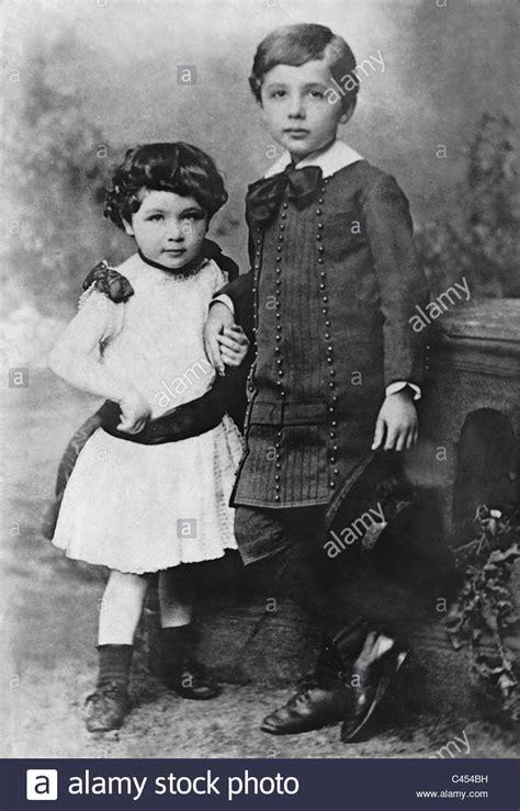 Albert Einstein And His Sister Maria Stock Photo 36992581