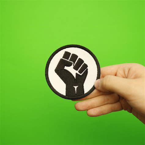 Black Power Blm Fist Embroidered Iron On Patch