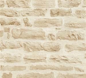 Tapete Steinoptik 3d : vlies tapete steinoptik steinmauer creme as creation 35580 2 ~ Frokenaadalensverden.com Haus und Dekorationen