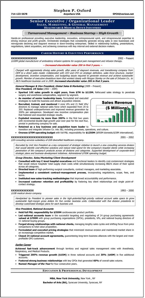 Executive Level Resume Sles by C Level Executive Certified Resume Writer