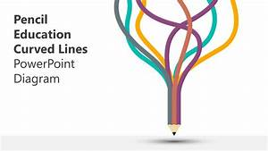Pencil Education Curved Lines Powerpoint Template Slidemodel