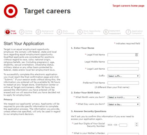 doc 728943 target application forms free printable