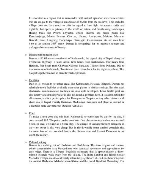 Essay On Travel And Tourism In Nepal Wwwquikitdeptcom