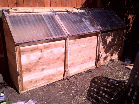chicken powered  stage compost bin