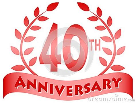 fortieth anniversary bannereps stock vector image
