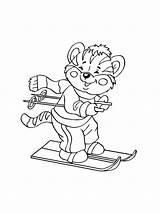 Ausmalbilder Ski Coloring Malvorlagen Ausdrucken Kostenlos Zum Skiing sketch template