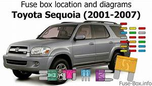 Fuse Box Location And Diagrams  Toyota Sequoia  2001