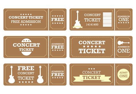 brown ticket free vector stock graphics images