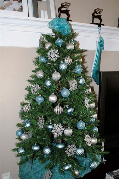 turquoise christmas tree decorations ideas decoration