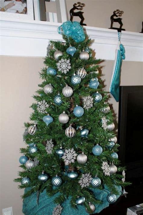turquoise christmas tree decorations ideas decoration