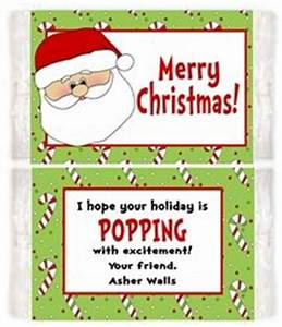 Personalized Christmas Holiday Santa Microwave Popcorn
