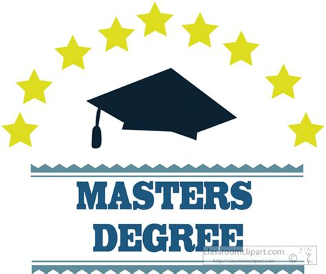 masters degree clipart