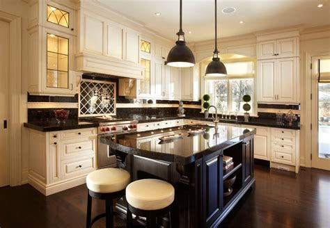 antique brown granite kitchen traditional with black