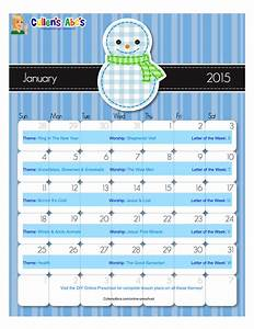 January Calendar 2015 | Christian Children Activities ...