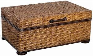 Rattan trunk coffee table for Wicker chest coffee table
