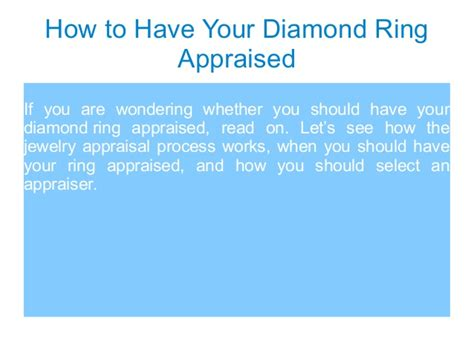 How To Have Your Diamond Ring Appraised