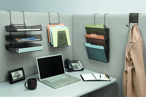 above desk wall organizer cubicle file hangers cube decor zone