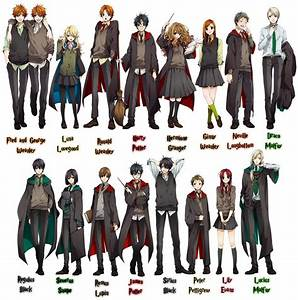 Harry Potter Characters Drawn Anime Style | This is it.
