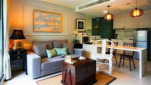 Living Room Kitchen Combo - Small Living Space Design