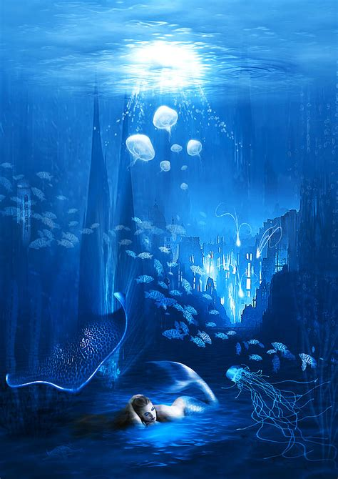 underwater world digital art  svetlana sewell
