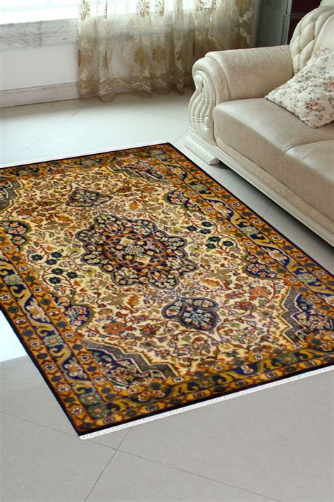 mustard area rug kashan mustered kashmir silk rug in color at
