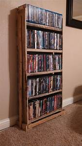Pallet Wood DVD Rack Pallet crafts Pinterest Dvd