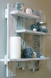 etagere en palette de bois une bouffee dinspiration With porte d entrée pvc avec comment fabriquer son meuble de salle de bain