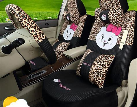 20psc Luxury Fashion Cartoon Happy Cat Car Seat Covers For