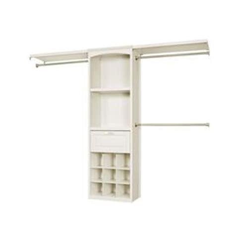 shop allen roth 8 ft x 6 83 ft white wood closet kit at