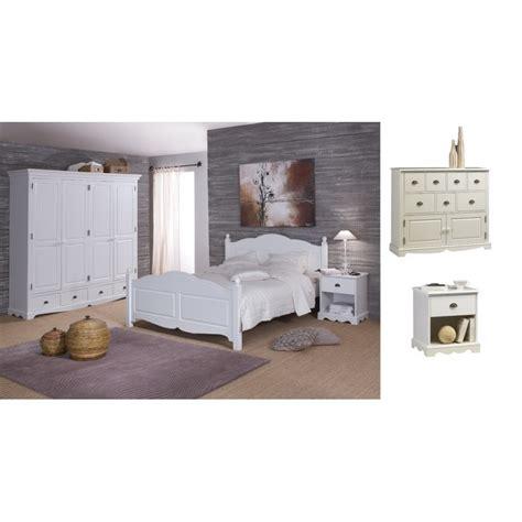 chambre complete blanche chambre blanche complète lit 140 beaux meubles pas chers