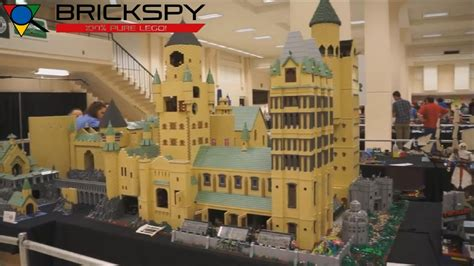 lego hogwarts castle moc brickcon youtube