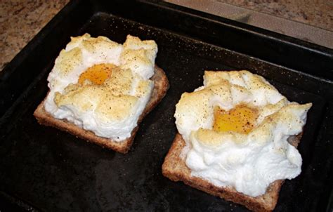 cook eggs in toaster oven eggs on a cloud for one or two toaster oven recipe