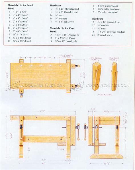 Sturdy Workbench Plans • Woodarchivist