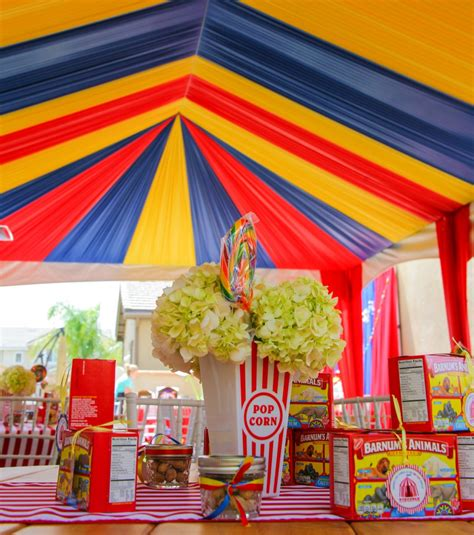 Circus Themed Birthday Celebration  A1 Party