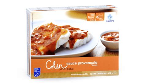picard plats cuisin駸 colin d 39 alaska msc à la provençale surgelés les plats cuisinés picard
