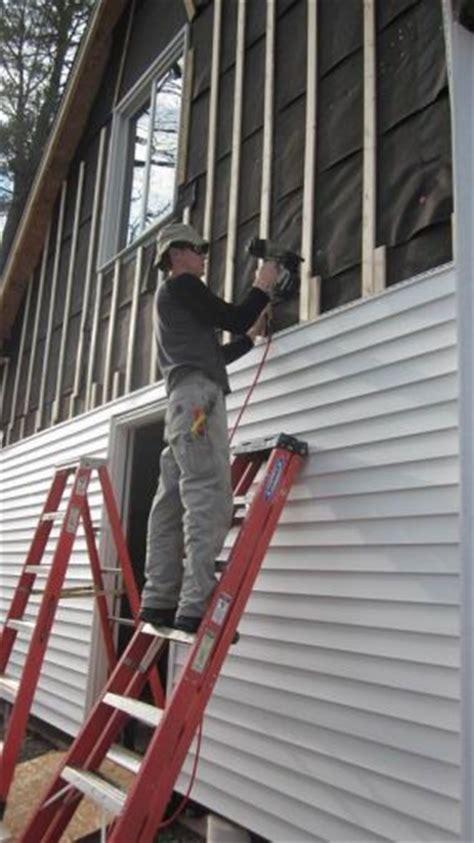 vinyl siding  installed  furring strips