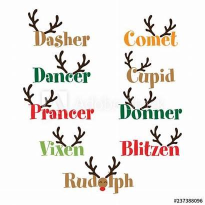 Santa Reindeer Names Renne Quotes Claus Renna
