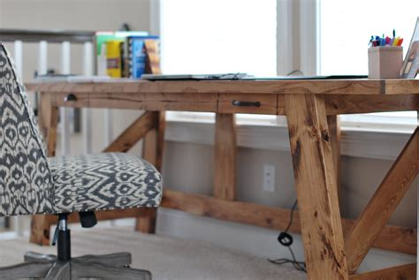plans to build a desk white modified henry desk diy projects