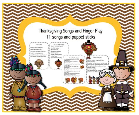 thanksgiving songs and finger play preschool printables 235 | 10