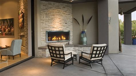 Outdoor Direct Vent Linear Electric Fireplace  Sierra Flame
